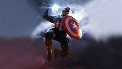 Captain America 4k Mjolnir Endgame Shield Wallpapers