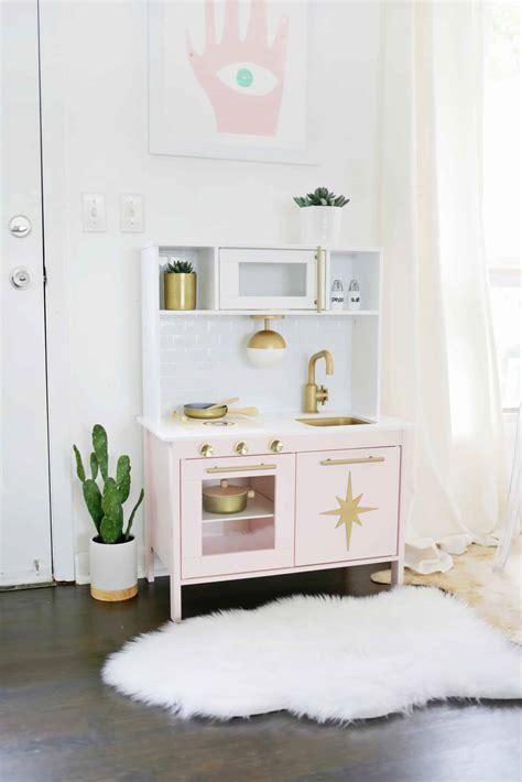 Midcentury Modern Ikea Play Kitchen Hack!  A Beautiful Mess