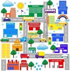 City Town Map Clip Art Free