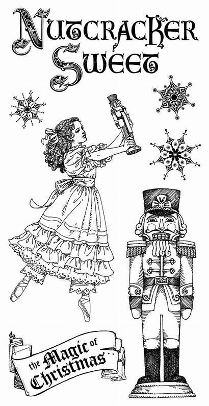 Nutcracker Sweet Coloring Christmas Pages Graphic Stamps