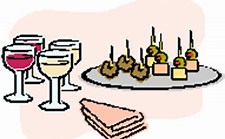 Image result for wine and hors d'oeuvres clip art