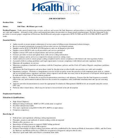 brace medical medical coding specialist job description