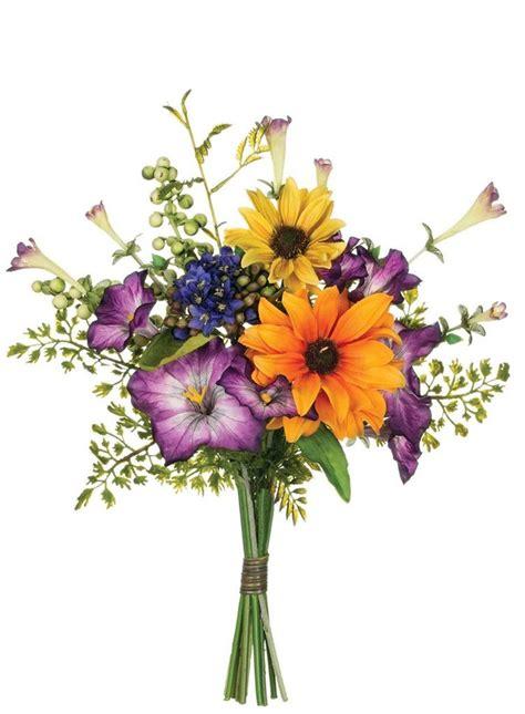 mixed silk floral wildflower bouquet  wedding