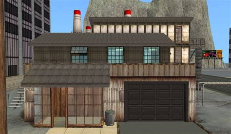 mod  sims industrial factory apartments