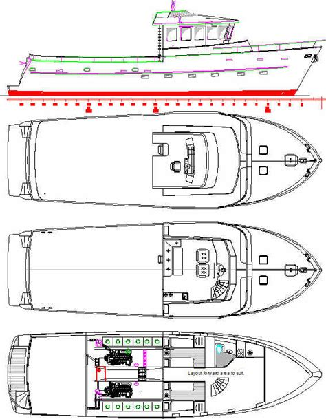 Boat Drawings Plans by Trawlers Trawler Yachts Fishing Boat Plans Boat Plans
