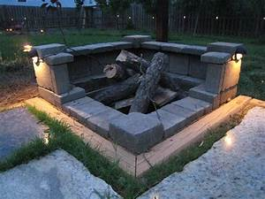 cinder block fire pit diy ideas for your backyard blocks With outdoor fire pit ideas tips to build