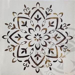 Mandala Canvas Art Golden – My Stencil Lady