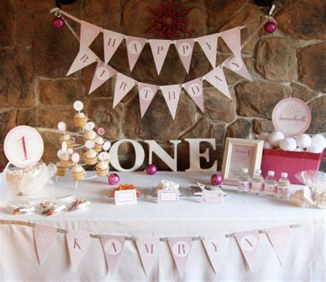 1st birthday ideas for baby girl party themes inspiration winter onederland birthday party theme baby girl 39 s