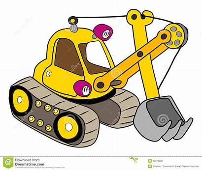 Excavator Clipart Backhoe Yellow Illustration Clip Excavate