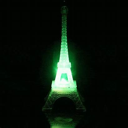 Led Eiffel Tower Changing Acrylic Centerpiece Night