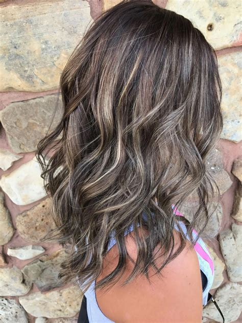 The coffee will cause a darker tint in your hair, which basically makes the gray disappear for a week or so, depending on how often you wash your hair. Love this hairstyle #straightbalayagehighlights # ...