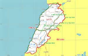 レバノン:レバノン地図