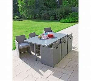 carrefour set encastrable de jardin osaka 1 table 6 With superb canape d angle exterieur resine 6 canape angle pas cher carrefour