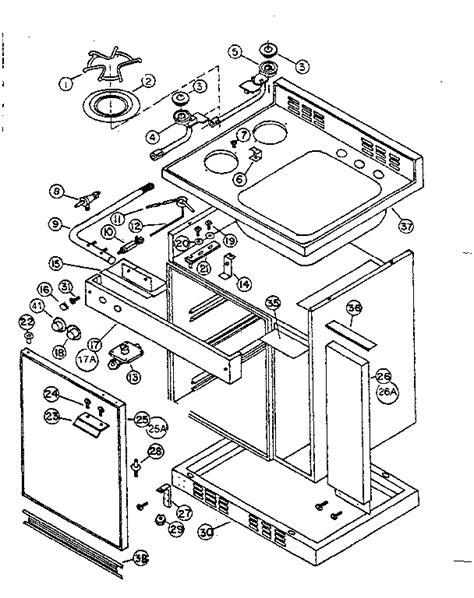 kitchen cabinet parts diagram cabinet and gas unit diagram parts list for model