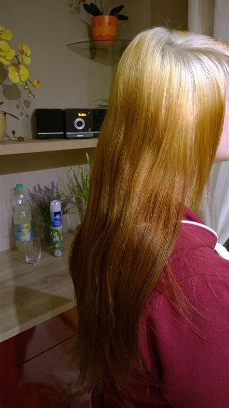 farbunfall orange braune haare durch blondieren