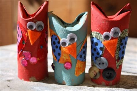 easy adorable toilet roll owl craft  kids happy