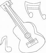 Coloring Scale Designlooter Musical Guitar sketch template