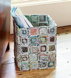 Zettelhalter Selber Basteln : cestas de papel reciclado video decoraci n ~ Lizthompson.info Haus und Dekorationen