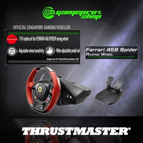 Steering wheel acc bt led display 4160709 thrustmaster. ThrustMaster Ferrari 458 Spider Racing Wheel For XBox One™ - 4460105 (1Y) - GamePro Shop