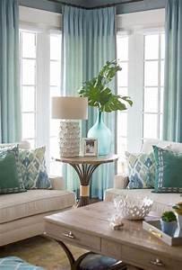 Stunning, Coastal, Living, Room, Decoration, Ideas, 21