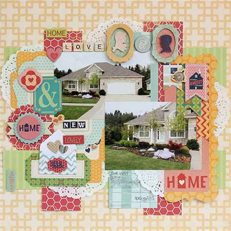 New Home Layouts by 428 Best Bo Bunny Layouts Images On Scrapbook