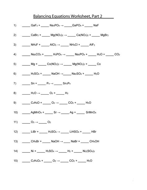 chemical equations worksheet answers newatvs info