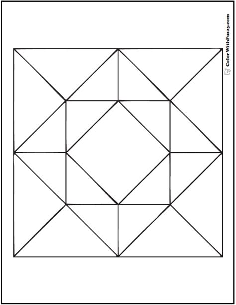 barn quilt squares pages coloring pages