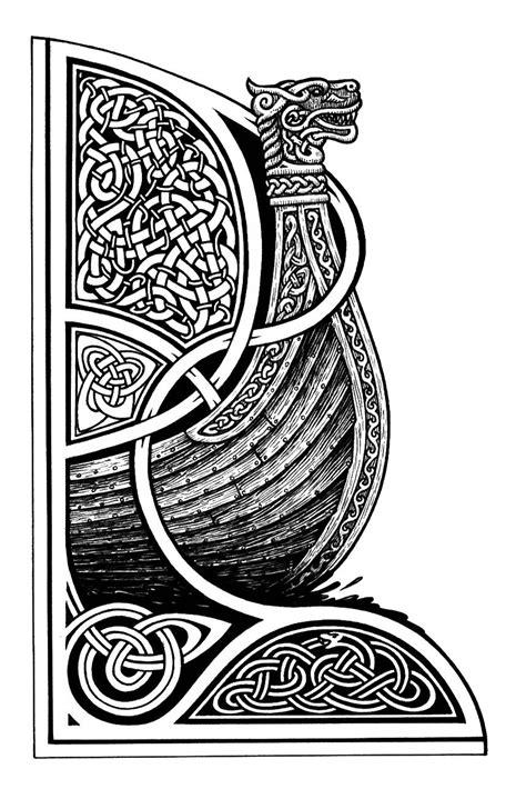 Drakkar   Viking art, Norse design, Celtic art