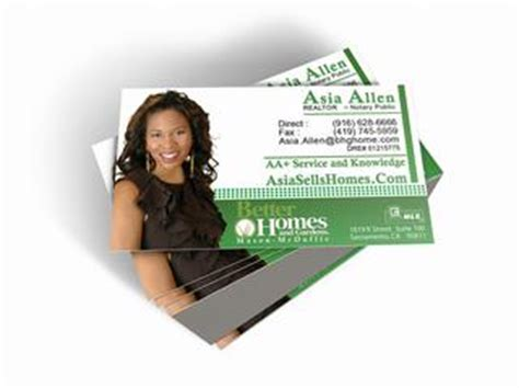 better home and gardens real estate business card designs