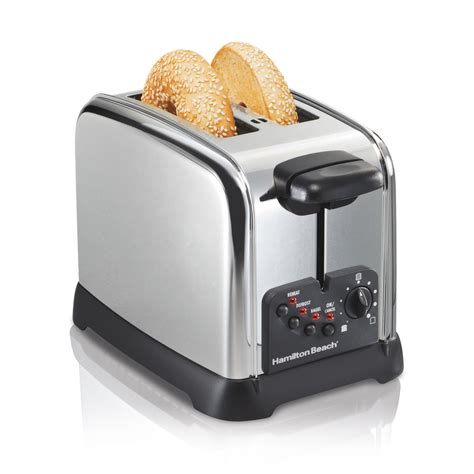 2 Slice Toaster by Shop Hamilton 2 Slice Stainless Steel Toaster At