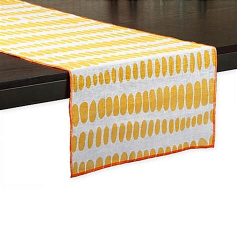 72 inch table runner mod dot 72 inch table runner in yellow bed bath beyond