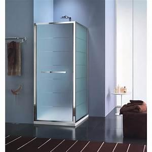 paroi de douche a 1 porte pivotante modele lucca de la With porte douche inda