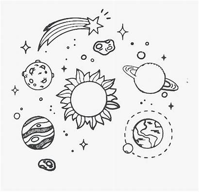Space Drawing Clipart Aesthetic Solar System Transparent