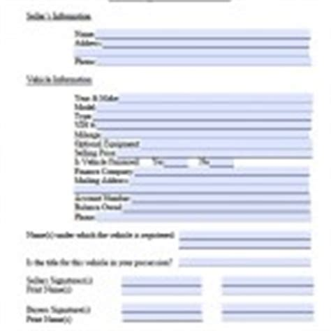Nj Boat Bill Of Sale Pdf by New Jersey Bill Of Sale Forms And Templates