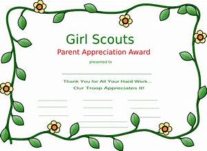 girl scout certificate templates girl scout clip art With girl scout award certificate templates