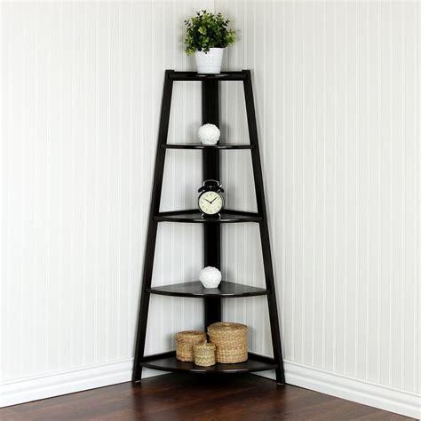 corner ladder shelf llytech inc yaotai espresso corner ladder shelf fnaj 11112