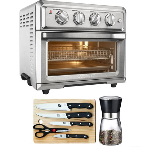 fryer oven convection air toaster cuisinart toa 60 light silver board piece knife walmart cutting spice mill basics ovens bundle