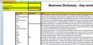 business data dictionary template templatebusiness With business data dictionary template