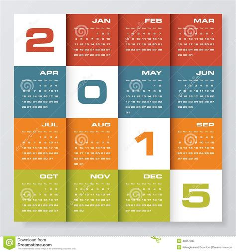 simple editable vector calendar stock vector image