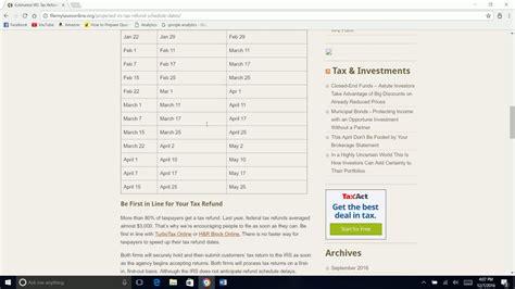 tax refund table brokeasshomecom
