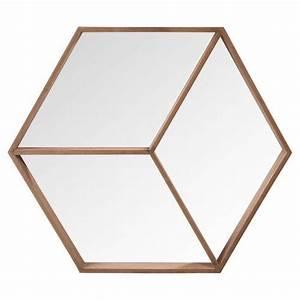 miroir hexagonal en bois h 50 cm hans chambre With meuble d entree maison du monde 7 50 tables de chevet pour tous les styles elle decoration