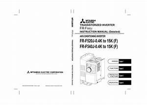 Mitsubishi Inverter Air Conditioner Instruction Manual