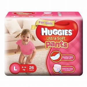 Buy Huggies Ultra Soft Pants Large Size Premium Diapers ...