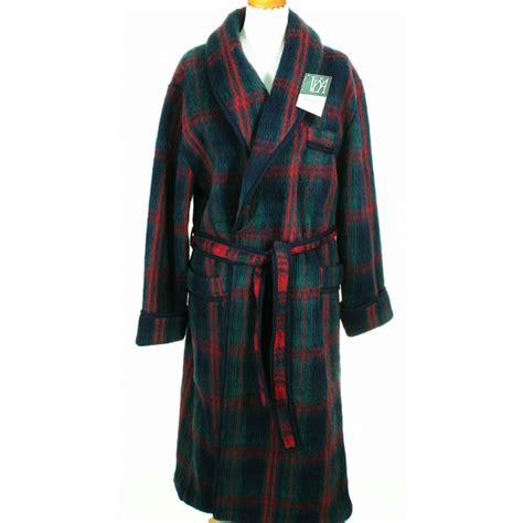 robe de chambre des pyr駭馥s robe de chambre homme ecossais marine en stock cet hiver