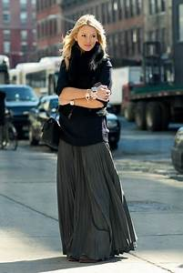 Trend Alert Chunky Sweaters with Maxi Skirts - Lulus.com Fashion Blog