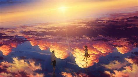 Kimi No Na Wa Background Wallpaper Mitsuha Miyamizu Taki Tachibana Kimi No Na Wa Scenic Reflection Your Name