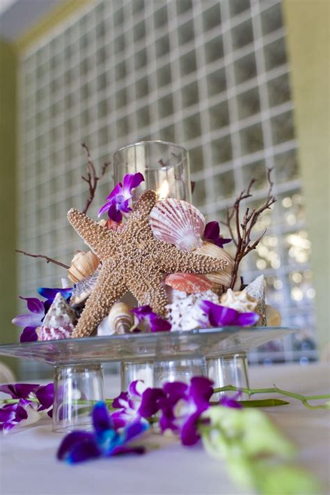 Table decorations for your beach wedding Beachy