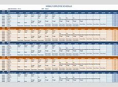 Weekly Schedule Template Excel calendar monthly printable