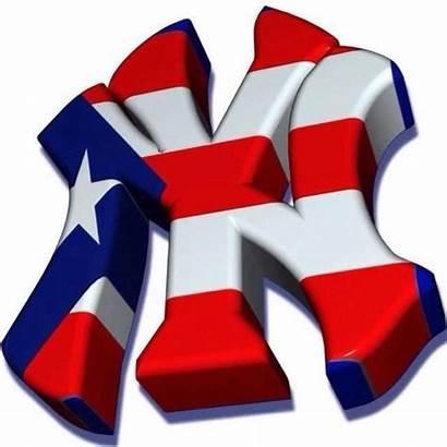 Yankees York Puerto Rico Logos Rican Nyy