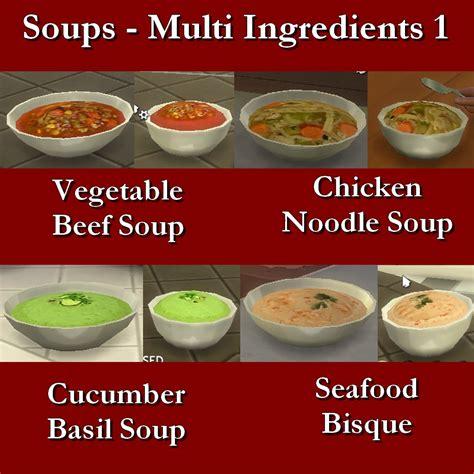 customisation cuisine mod the sims custom food soups multi ingredient 1